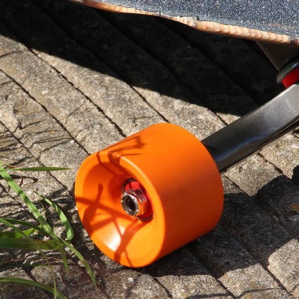 Tangerine Orange Pigmented Skateboard Wheel